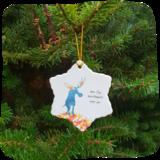 kerstster van porselein fijn kerstbeest_