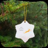 kerstster van porselein vlieg_