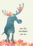 kaart fijn kerstbeest